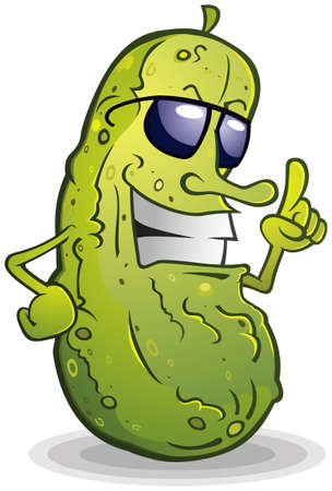 Pickle die Zonnebril stripfiguur Stock Illustratie