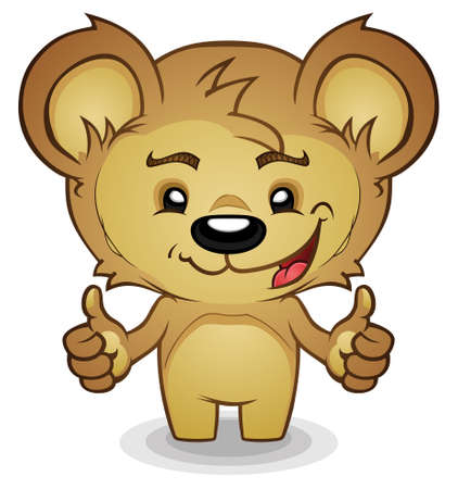 teddy bear cartoon: Teddy Bear Cartoon Thumbs Up