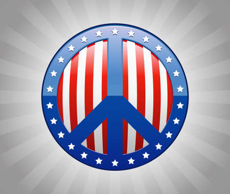 Peace Sign America Symbol Illustration Ilustracja