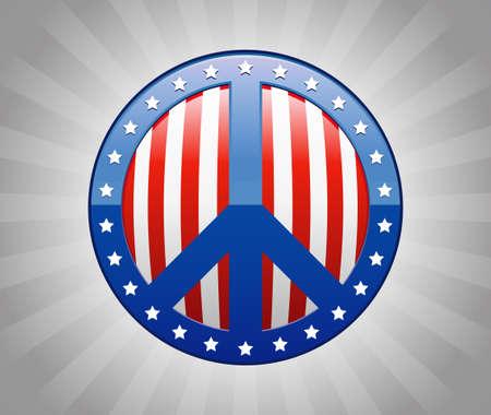 symbol peace: Signo de la paz de Am�rica S�mbolo Ilustraci�n Vectores