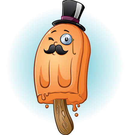 eloquent: Rich Tycoon Popsicle Gentleman Cartoon Character