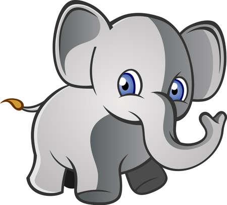 Baby Elephant Cartoon Character