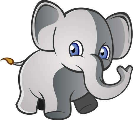 Baby Elephant Cartoon Character