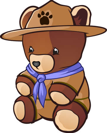 ourson: Caract�re Teddy Bear Cub Scout de bande dessin�e