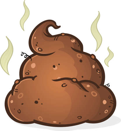 dog poop: Poop Pile Cartoon Illustration