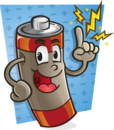 Battery Cartoon Character Stok Fotoğraf - 33368854