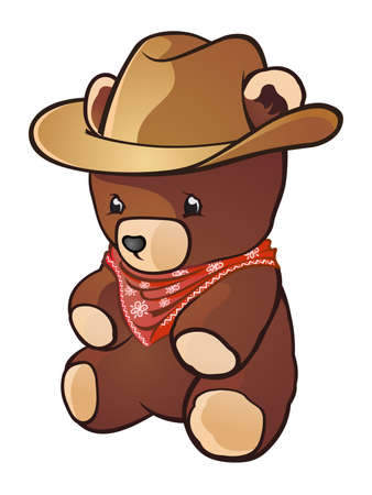 teddy bear cartoon: Cowboy Teddy Bear Cartoon Character