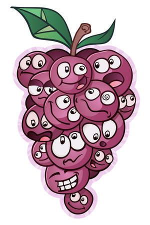 Bunch of Grapes Cartoon Characters Faces and Gossip