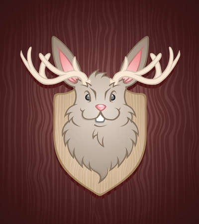 buck teeth: Jackalope Cartoon Character