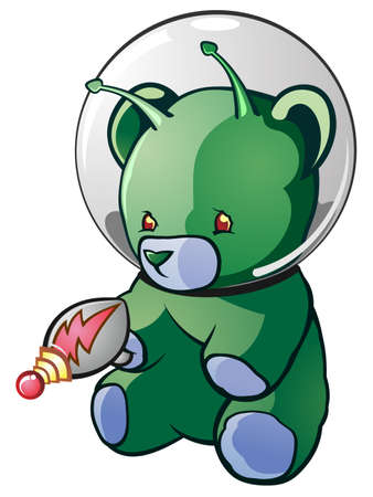 teddy bear cartoon: Alien Teddy Bear Cartoon Character