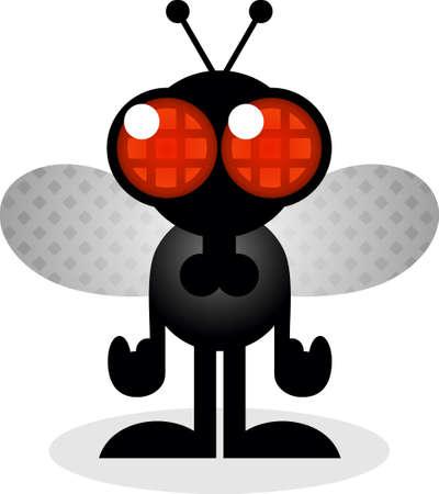house fly: House Fly Cartoon Character