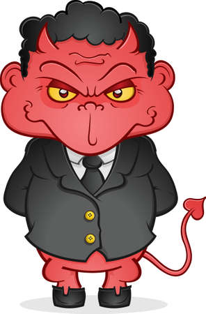Red Devil Imp in a Business Suit Vector