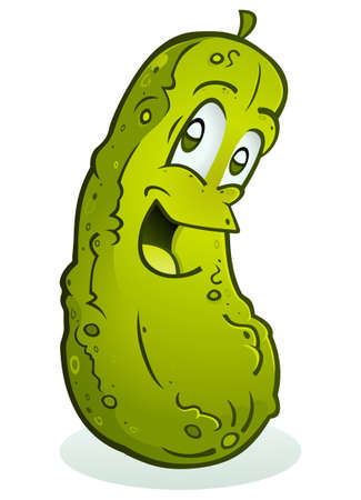 Pickle Smiling Cartoon Character Vectores