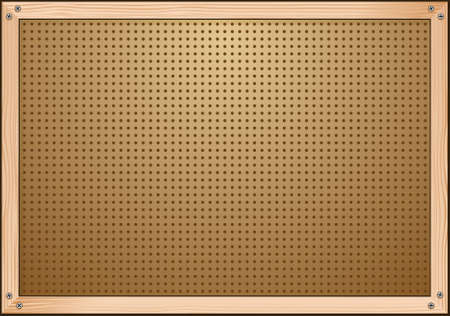 peg: Pegboard Workshop Background Illustration Illustration
