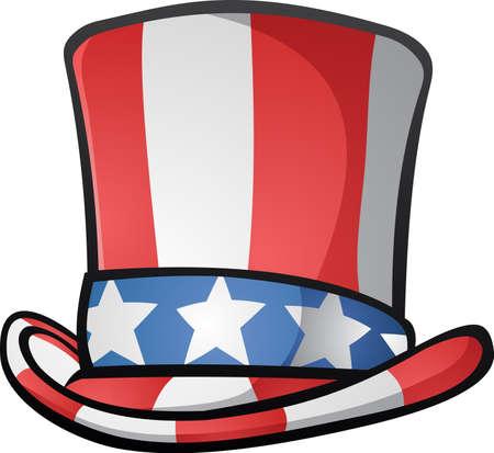 Uncle Sam Hat Cartoon Illustration Vector