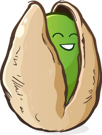 pistachio: Pistachio Cartoon Character Illustration