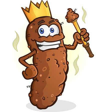manure: Poop King Cartoon Character