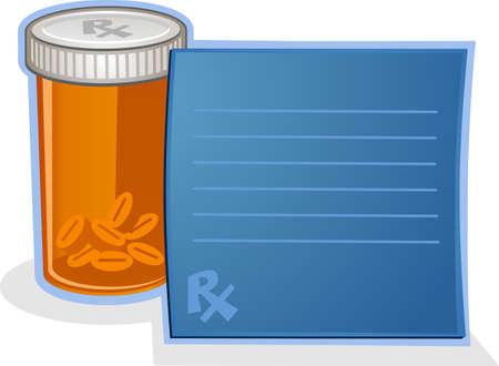 suppository: Prescription Drug Pill Bottle Cartoon