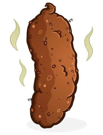Turd Poop Cartoon Illustration