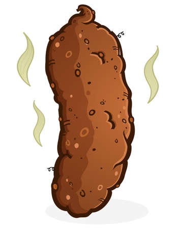 dog poop: Turd Poop Cartoon Illustration