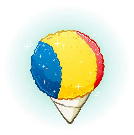 Snow Cone Cartoon Illustration Vectores