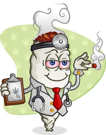 stoned: Medical Marijuana Doctor Cartoon