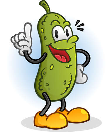 gherkin: Pickle Retro Styled Cartoon Character