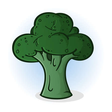 Broccoli Cartoon Illustration