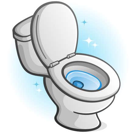 Sparkling Clean Toilet Illustration