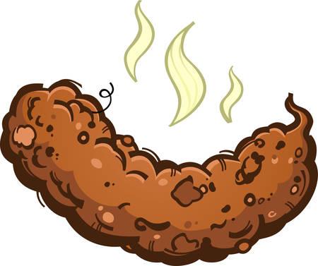 Poop turd illustration on white background. Иллюстрация