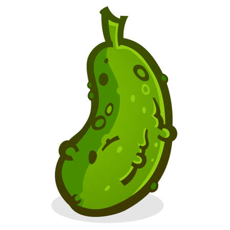 Pickle Cartoon Vector Illustration