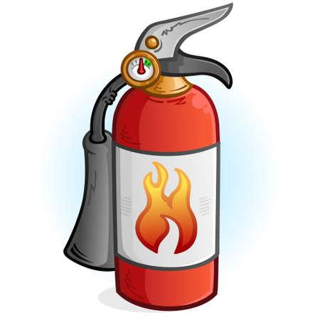Fire Extinguisher Cartoon Illustration