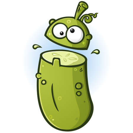 Pickle Cartoon Mascot Flipping His Lid