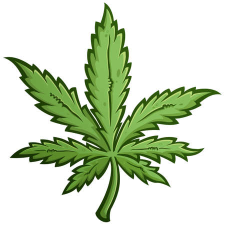 Marijuana Leaf Cartoon Vector Illustration