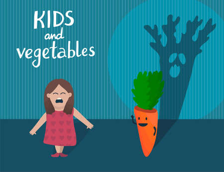 Girl and carrot with ugly scary shade