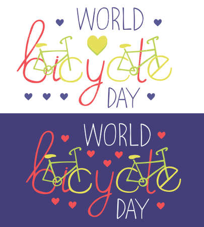 Lettering set World bicycle day
