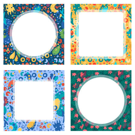 Abstract modern square frames