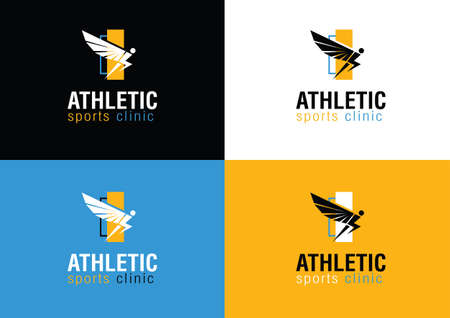 Modern Athletic Sports Clinic Branding icon With Wing Symbol