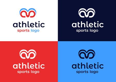 Modern Athletic Sports Gym Fitness Branding Logo With Wing Ram Symbol
