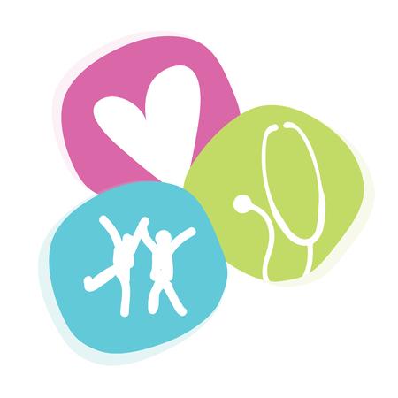Cute, Colorful And Fun Child Doctor Pediatrician Icon Symbol