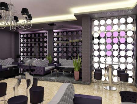 dancing club: 3d rendering of a nightclub interior design Stock Photo