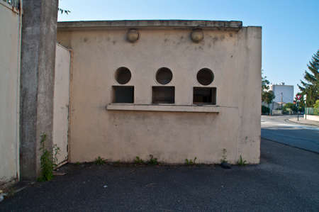 Entrance of a demolished football stadium in Valence, France.