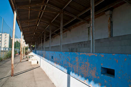 The main stand of a demolished football stadium in Valence, France.