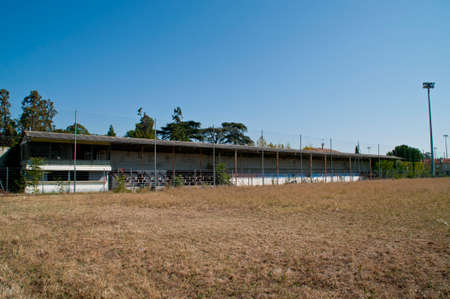 Main stand of a demolished football stadium in Valence, France.