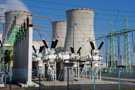 Transformers in the coal power plant Standard-Bild