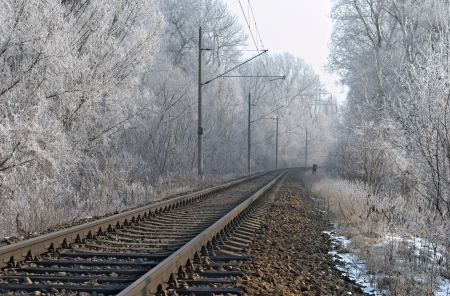 vanish: Winter railroad