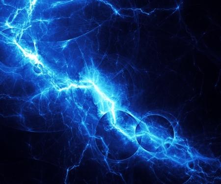 lightning strike: Blue abstract lightning