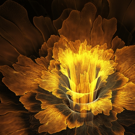 Golden fractal flower