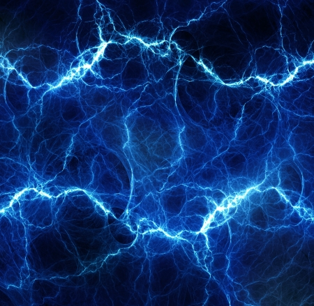 fractal: Fantasy blue lightning Stock Photo