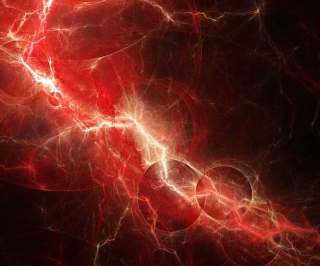 Rode elektrische bliksem, abstract ontwerp